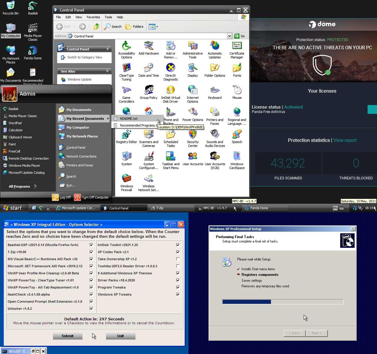 windows xp на современных компьютер